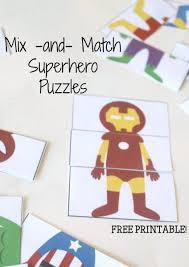 printable paper puzzles free printable superhero mix and match puzzles superhero free