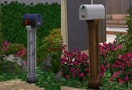 Pedestal Mailbox Mod The Sims Bradford And Pedestal Mailboxes