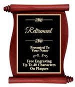 retirement plaques retirement plaques customize a retirement plaque for your employee