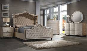 Queen Sized Bedroom Set Diamond Canopy Bedroom Set In Golden Beige By Meridian Furniture