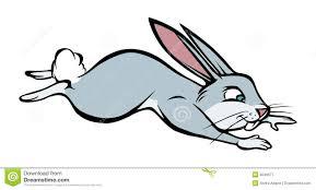 jumping rabbit clipart