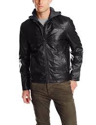motocross leather jacket levi u0027s men u0027s faux leather jacket with hood at amazon men u0027s