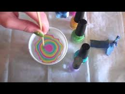 water marble manicure rainbow tie dye nails youtube