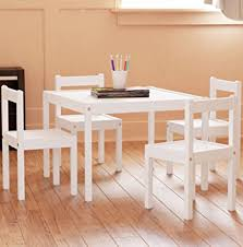 Kids Wooden Table And Chairs Set Amazon Com Fasthomegoods Kids Table And Chairs Set White 5