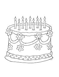 Gâteau danniversaire  Coloriages thématiques
