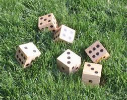 diy wooden yard dice sometimes homemade