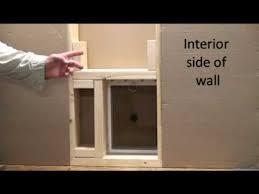 Exterior Pet Door Step 2 How To Install A Small Pet Door Into An Exterior Wall