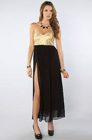 black and gold dress one teaspoon the on maxi dress in black and gold m