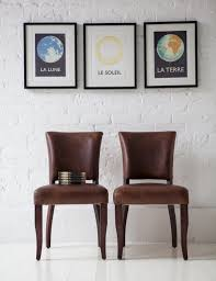 Vintage Dining Room Chairs Furniture Cozy Vintage Leather Dining Chairs Photo Modern Design