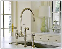 bridge kitchen faucet with side spray bridge kitchen faucet home design ideas and pictures