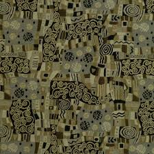 Black And Gold Upholstery Fabric Klimt Inspired Upholstery Fabric By The Yard Black Tan Gray