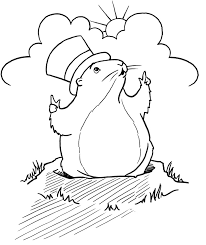 Groundhog Day Coloring Pages Getcoloringpages Com Groundhog Color Page