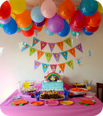 Home Decoration Birthday Party Home Decor Rainbow Birthday Party Ideas For Baby Girls Take