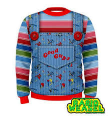 chucky sweater guys chucky sweatshirt replica costume ebay