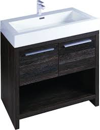 moscow 750 floor standing bathroom vanity unit dark wood