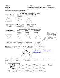 unit 2 intro worksheet classifying triangles and midsegment