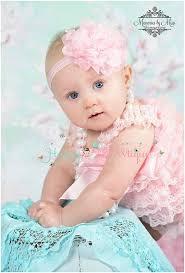 baby girl headband flower girl headband large baby pink tutu dots flower headband