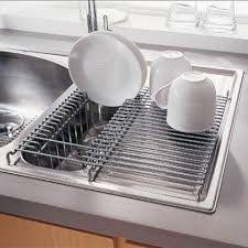 Stainless Steel InSink Dish Drainer Dish Drainers Flatware And - Kitchen sink with drying rack