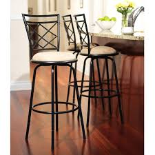 Bar Stool With Cushion Amazon Com Avery Adjustable Metal Bar Stools Kitchen U0026 Dining
