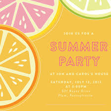 Family Reunion Invitation Cards Card Template Summer Party Invitations Card Invitation