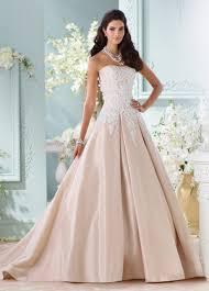champagne taffeta u0026 lace ball gown wedding dress 116217 alleen