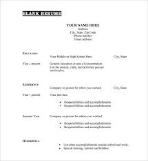 Free Sample Resume Builder by Resume Example Format Basic Resume Template Basic Resume Template