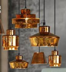 Antique Pendant Lights Bar Antique Gold Glass Pendant Lights E27 Coffee Shop Rustic L
