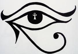 lovely ankh in horus eye stencil by ladydracoviolet