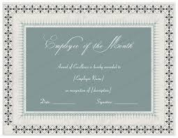 beautiful design template of employee of the month certificate