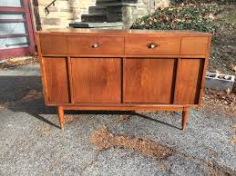 mid century sideboard server with long drawer attainable vintage
