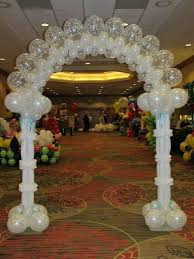wedding arches and columns wedding balloon arches