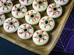 hallwoeen halloween party appetizer cheesy eyeballs hgtv