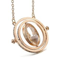 harry potter pendant necklace images Gold plated harry potter time turner hermione hourglass dumbledore jpg