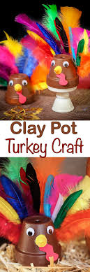 clay pot turkey craft for great last minute thanksgiving craft