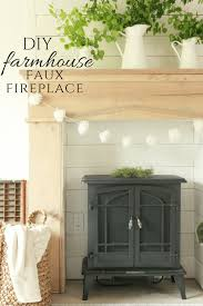 diy faux farmhouse style fireplace and mantel twelve on main