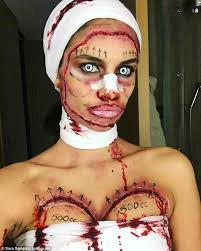sara sampaio is unrecognizable in plastic surgery costume daily
