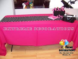 fuschia pink table cloth pink table linens table designs