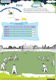 totally cricket math worksheet for grade 1 free u0026 printable