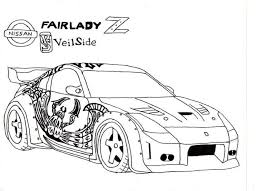 coloring pages drifting cars tokyo drift car drawing sketch coloring page