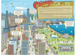 chicago tourist map printable chicago travel map for chicago