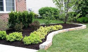 Border Ideas For Gardens Rock Landscape Edging Borders Royal Flower Bed Border Ideas