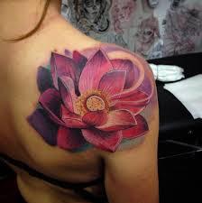 Large Flower Tattoos On - 50 lotus flower designs tattooblend