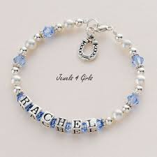 Personalized Children S Jewelry Sterling Silver Name Bracelets For Girls Personalised Children U0027s