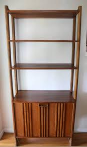 mid century modern danish modular bookshelf cabinet picked vintage