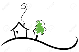 House Drawing by House On A Hill Royalty Free Cliparts Vectors And Stock