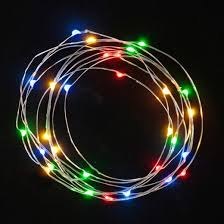 philips 30ct battery operated led dewdrop string