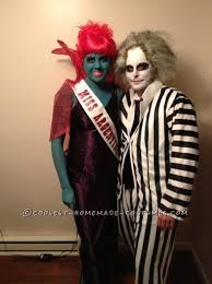 awesome couple costume miss argentina and beetlejuice awesome