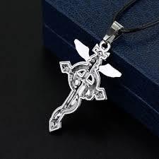 metal cross necklace images Online shop silver fullmetal alchemist edward elric snake cross jpg