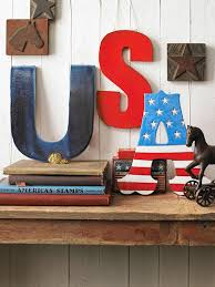 Red White And Blue Home Decor Easy 4th Of July Decorations Diy Decoration American Pride And