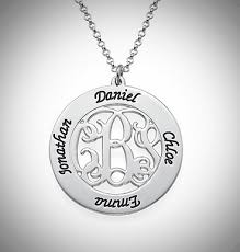 monogramed necklace monogrammed family necklace
